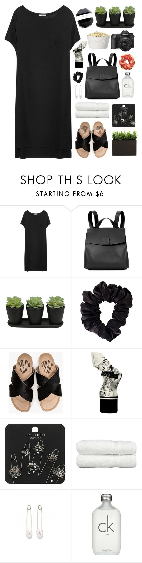 """""""Sin título #2603"""" by liliblue ❤ liked on Polyvore featuring T By Alexander Wang, Nico Giani, American Apparel, Charlotte Stone, Aesop, Topshop, Linum Home Textiles, Kristin Cavallari and Calvin Klein"""