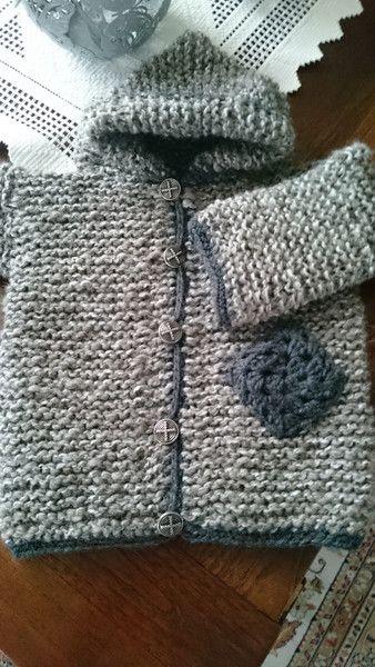 Jacken - Jacke Baby Wolljacke Strickjacke Schafwolle Kapuze - ein Designerstück von strick-handwerk bei DaWanda