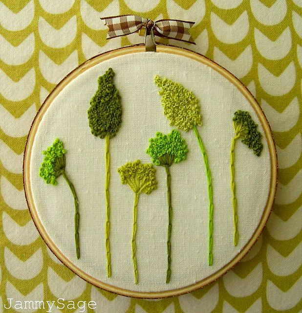 Knotty weeds more embroidery ideas