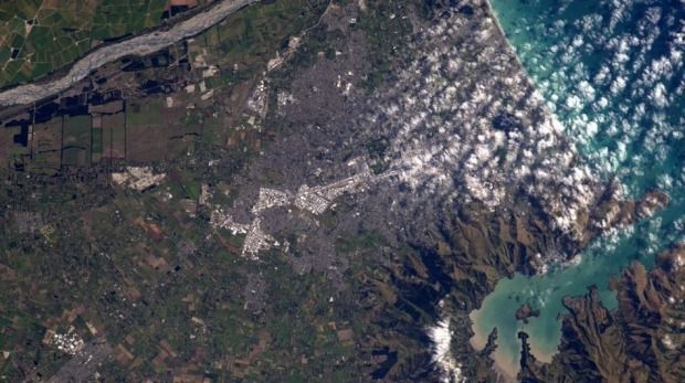 So far away, yet still so beautiful. New Zealand as seen from space.