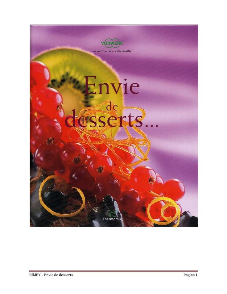 BIMBY – Envie de desserts Pagina 1