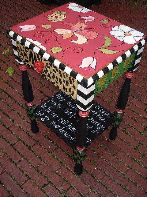 whimsical night table by pamelarosenberg1, via Flickr