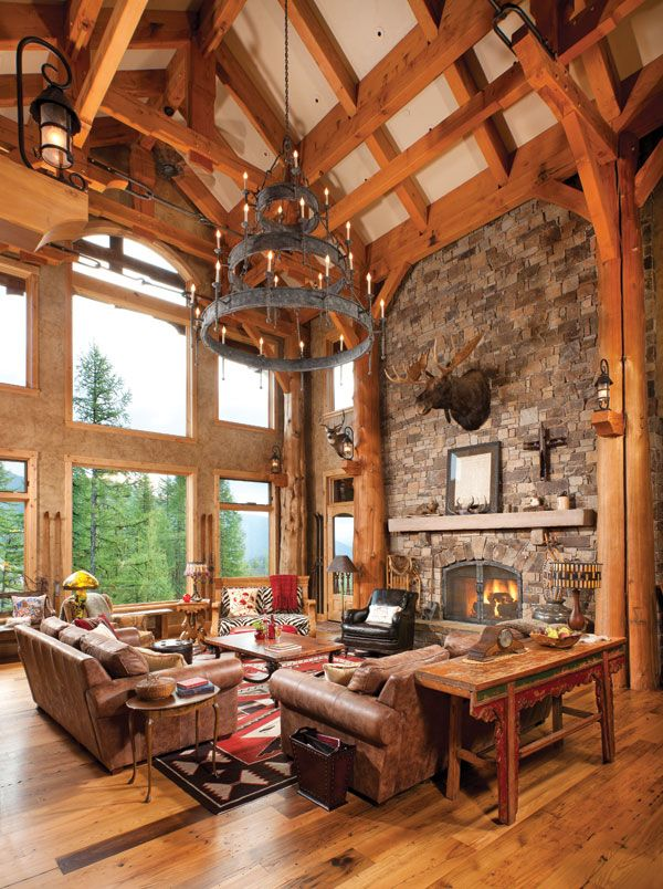 The Complicated Timber Framing, Marrying Cedar Trunks And Douglas Fir  Milled Beams, ...