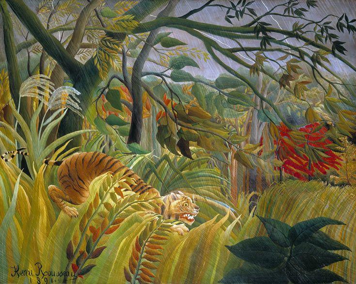Sorpresa! (o Tigre in una tempesta tropicale): opera di Henri Rousseau