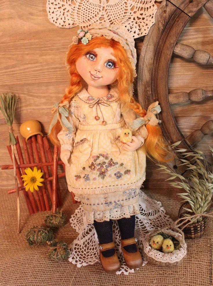 Купить Шунечка - деревенский стиль, кукла ручной работы, кукла, кукла в подарок, кукла интерьерная