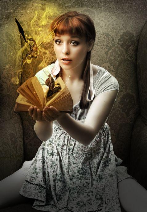Open a book....