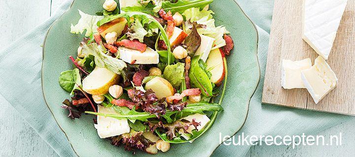 salade met brie en appel