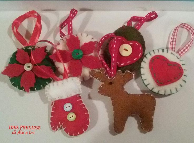 "Decorazioni natalizie in feltro / felt Christmas decoration ""Idee Preziose di Ale e Cri"""
