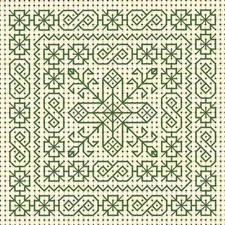Spring Blackwork, designed by Jan Eaton, from Tom Pudding Designs.