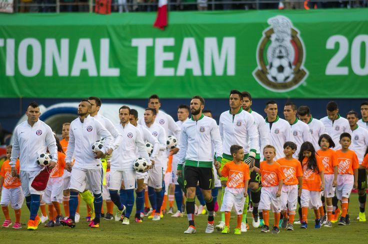 San Diego, California, Estados Unidos, 1 de junio de 2016. , durante el partido de preparación entre la Selección Nacional de México y la Selección de Chile, previo a la Copa América Centenario 2016.