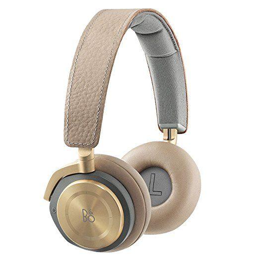 B&O Play by Bang & Olufsen H8 Casque Audio Supra-Auriculaires Haut de Gamme Sans Fil Bluetooth avec Système Actif d'Annulation du Bruit (ANC) - Argile Claire