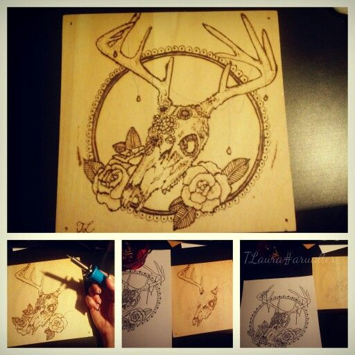 My first pyrography- TLaura