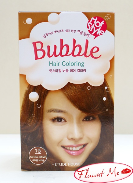 While not a new trend in Asia, bubble (or foam) hair dye has been popping up in the US. Feeling curious and bored of my natural black hair, I decided to take the plunge and dye my hair brown with Etude House's Hot Style Bubble Hair Coloring Dye in Natural Brown.