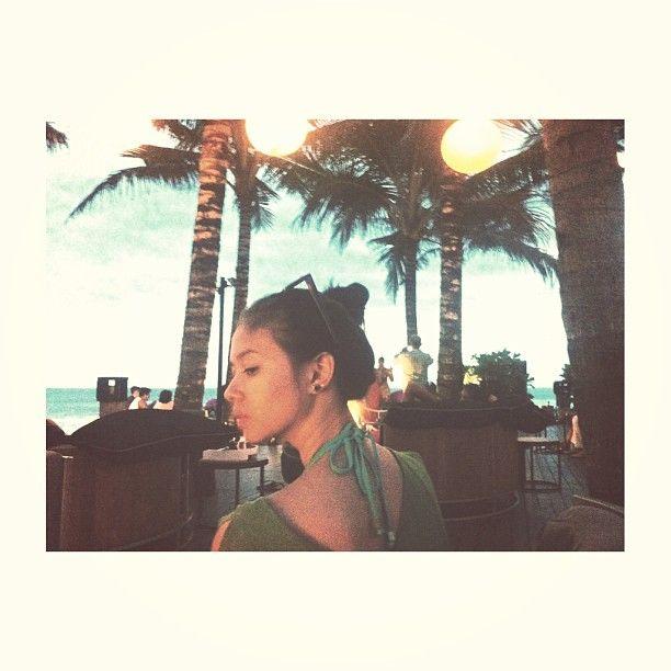 Yuki Kato in Beach. Waiting Sunset