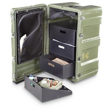 New U.S. Military Surplus Hardigg® Case, Olive Drab
