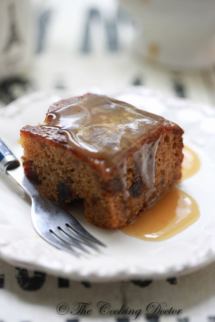 Sticky Toffee Date Slice cake, with butterscotch sauce by The  Cooking Doctor