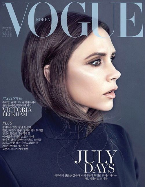 VOGUE Korea Victoria Beckham by Hyea W. Kang w/ styling from Kihoh Sohn x the July 2016 issue of Korean Vogue Hair by Ken Paves and makeup by Hye Ryung Park