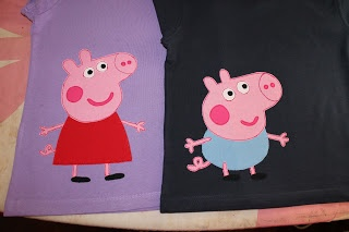 Peppa Pig applique t-shirts  www.redraspberry.com.au