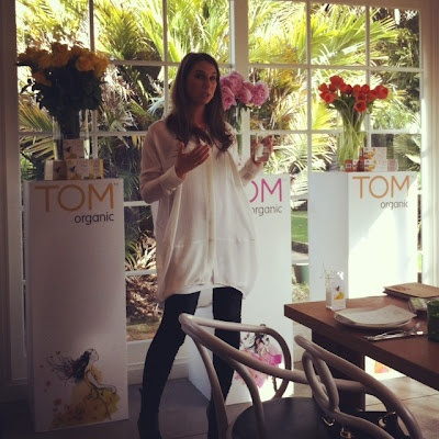 Aimee Marks at TOM Organic Launch on *bellaMUMMA {life is beauty-full}: snippet of MY DAY