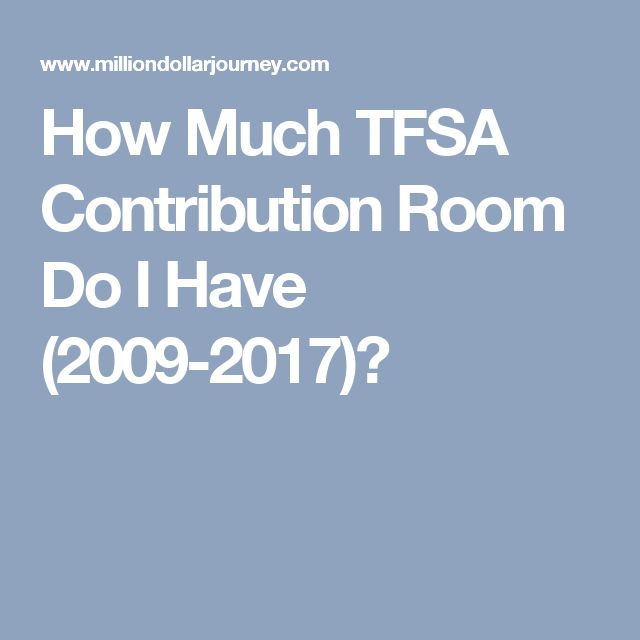 How Much TFSA Contribution Room Do I Have (2009-2017)?