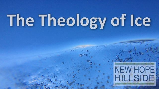 "In this message Pastor John explores the Theology of Ice. What does its nature teach us about God's?  ""From whose womb comes the ice?  Who gives birth to the frost from the heavens"" Job 38:29, NIV"