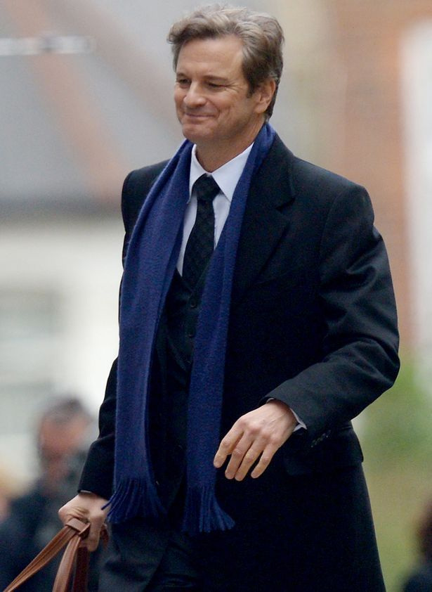 Colin Firth on set in Islington, London, during filming of Bridget Jones's Baby, the third instalment of the Bridget Jones franchise