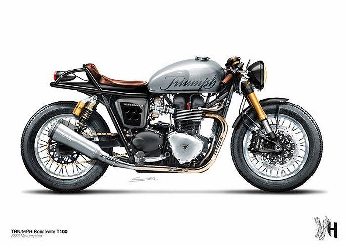 Moto Triumph Cafe Racer Idea Di Immagine Del Motociclo