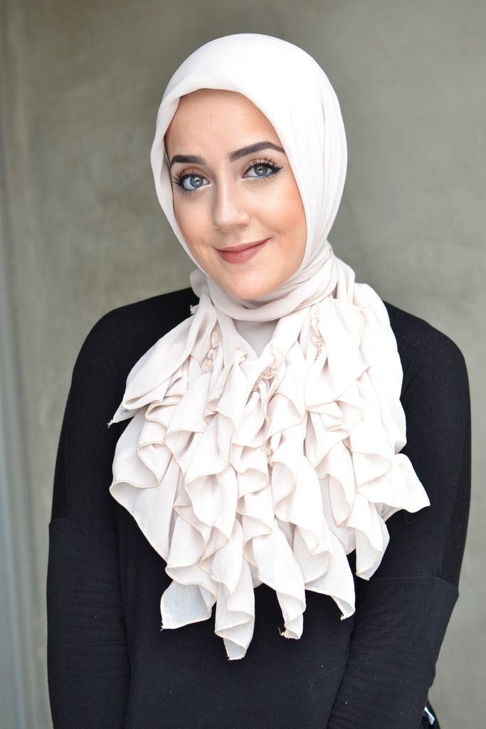 Ruffles on hijab
