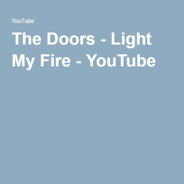 The Doors - Light My Fire - YouTube