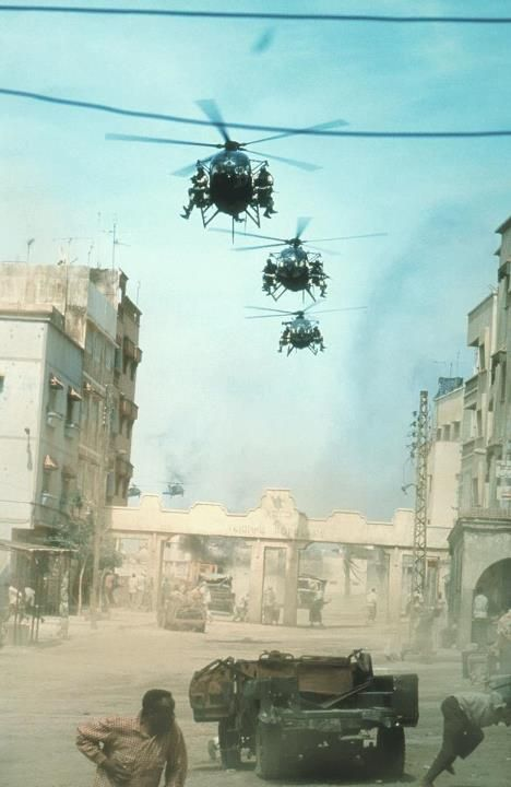 Film still of 'Black Hawk Down', a film by Ridley Scott, 2001.