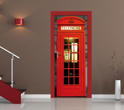 British Phone Box Door Wallpaper Mural Wallpaper Mural at AllPosters.com