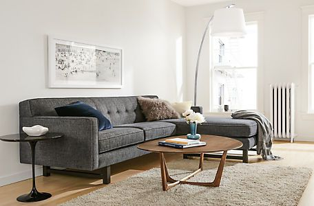 André Sofa With Reversible Chaise. Sectional Living RoomsModern ...