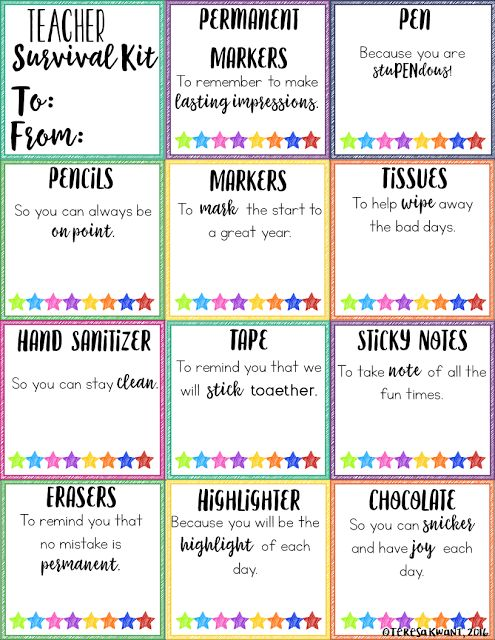Looking for a fun and unique way to welcome your students or teacher back to school? Try these great back to school survival kits! There are options available for both the student or teacher in your life.