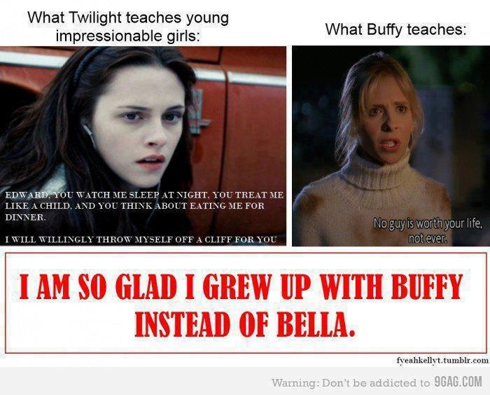 I wish. Buffy's cool. Bella's lame.