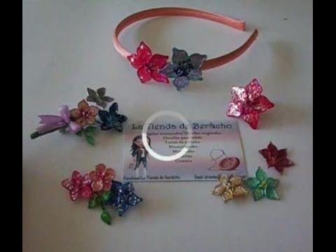Flores de alambre y esmalte regalo ideal para mama.  Flowers wire and na...