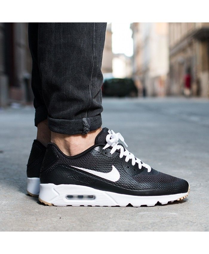 Nike Air Max 90 Ultra Essential Mens Black White Trainers Sale UK ... d16a4f13b4