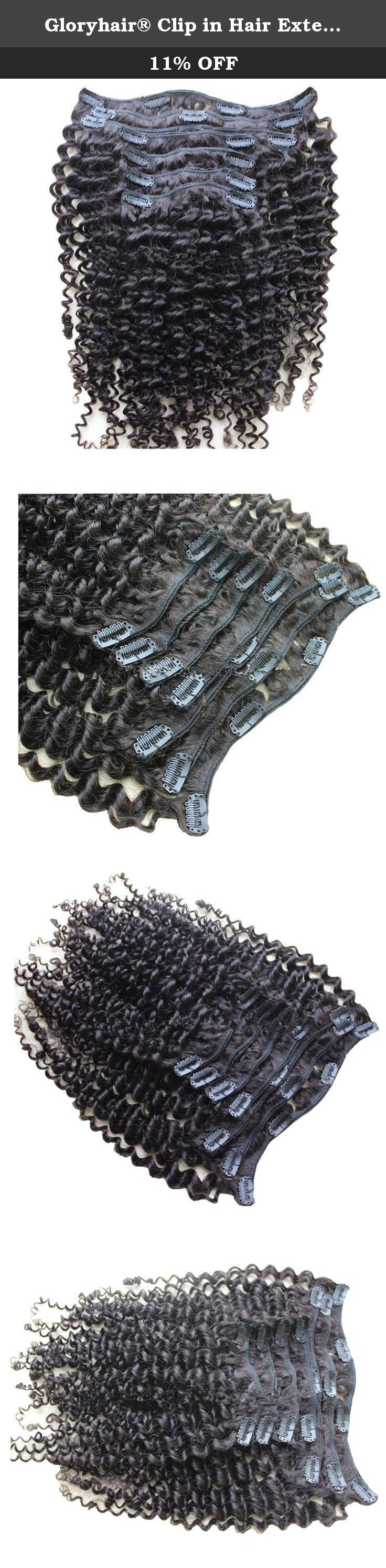 Gloryhair® Clip in Hair Extensions Kinky Curl 100% Brazilian Virgin Human Hair Weave Kinky Curly Clips on Hair Weaves for Black Women (6 Inches, #1). All of Safari Human Hair is UNPROCESSED 100% Brazilian Virgin Hair without any Synthetic or Animal Hair, It is Natural Movement of Premium Quality Virgin Human Hair. Any request for length, color, texture, density,pls contact us. 1. The most popular hair extension product all over the world! 2. Clips are already attached and the piece is…