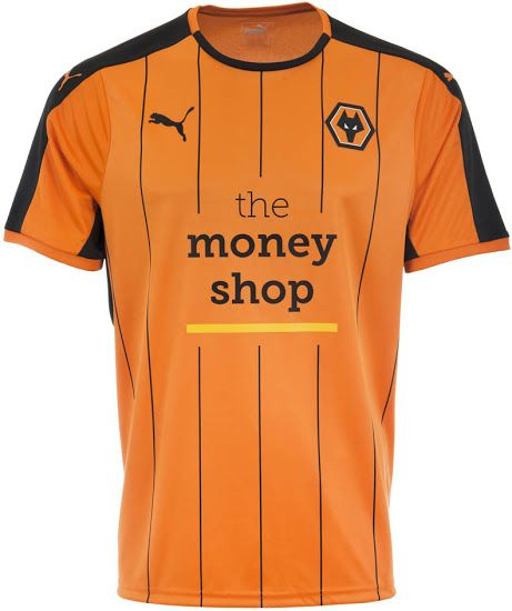 WOLVERHAMPTON WANDERERS 16-17 HOME KIT Jersey /a England