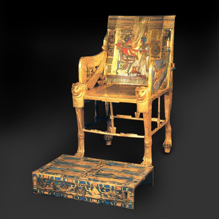 Gold throne of Tutankhamun. Egypt, 3300 years old