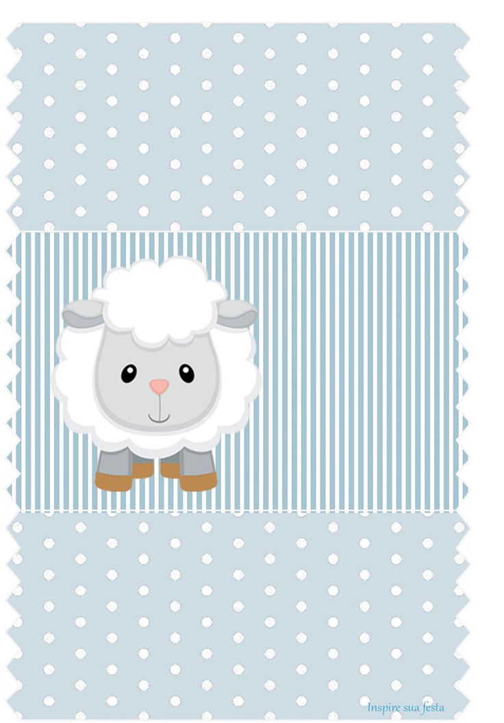 FREE printable blue lamb baby shower kit