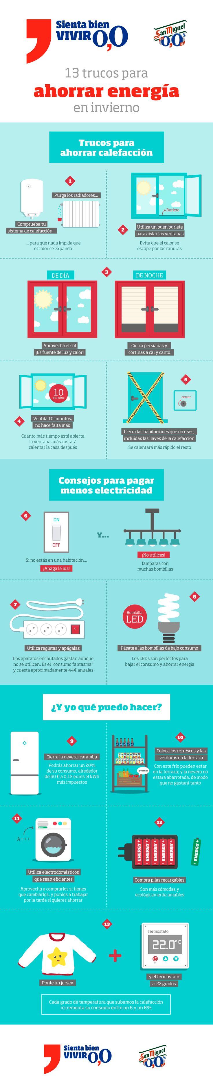 Infografía: cómo ahorrar energía en casa sin renunciar a nada #infografia #ahorro #energia #diseno #ilustracion