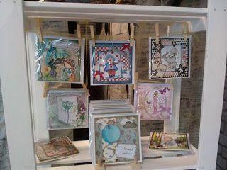 Luna-Art - show room : Półka z kartkami w Galerii Niepowtarzalnej