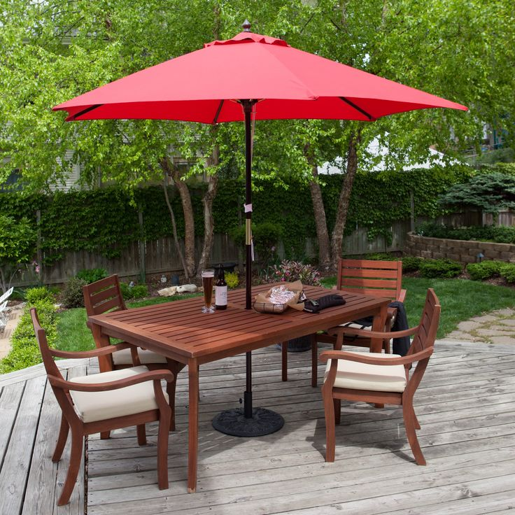 Have to have it. Key Largo 9-ft. Wood Market Umbrella - $59.98 @hayneedle ANOTHER REPLACEMENT