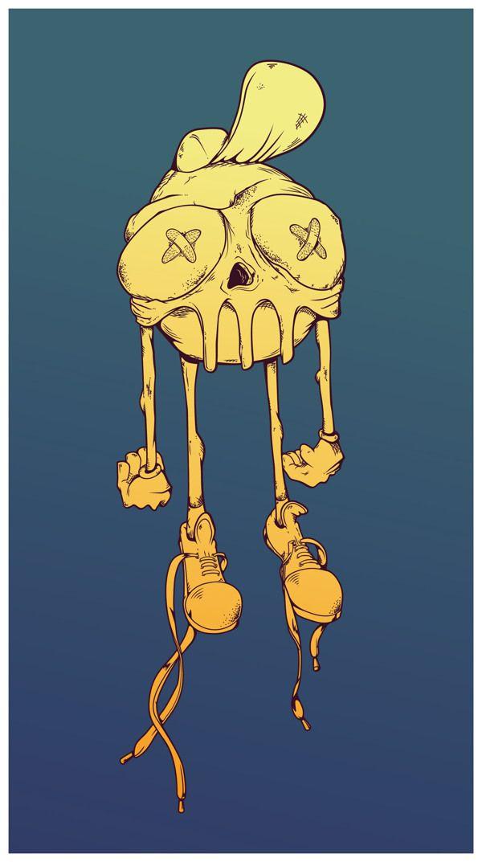 graffity skull by Oliver Ariel, via Behance