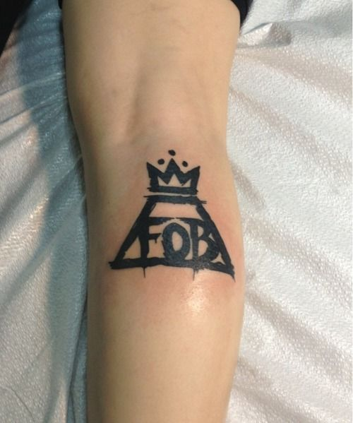 fall out boy tattoo danielle fynbo though we would