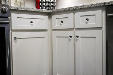 Closeup Of New Shaker Style Doors And Drawers Refinished