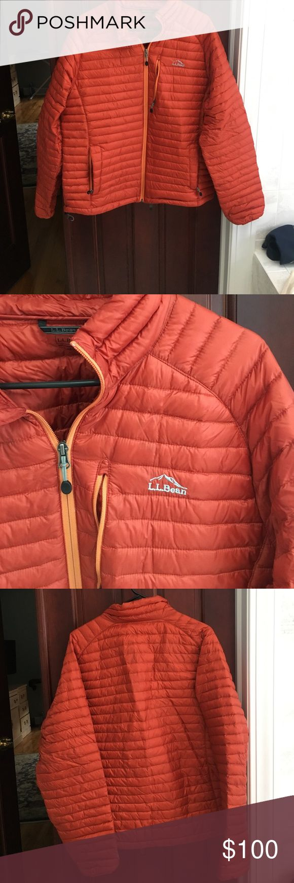 LL Bean men's puffer jacket. Orange. Great condition, new with tags but the tags are detached. L.L. Bean Jackets & Coats Puffers
