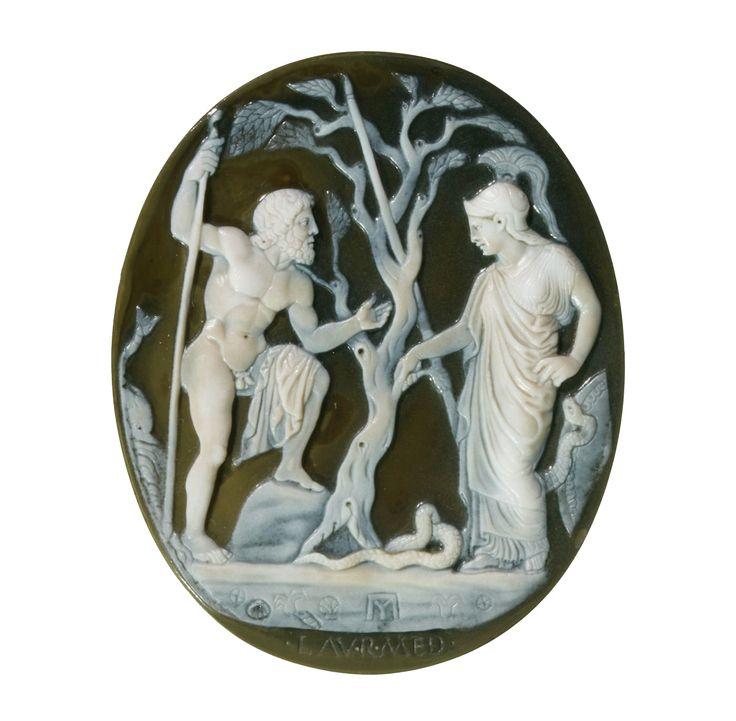 Athena and Poseidon | sardonyx-onyx. 1st century BCE