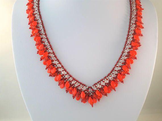 Dames Kralen Juwelen Rode Ketting voor Mams Gelaagde Juwelen