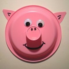 Paper Plate Pig (can do this for any animal for wild animal week)  sc 1 st  Pinterest & 17 best Farm animals made with paper plates. images on Pinterest ...